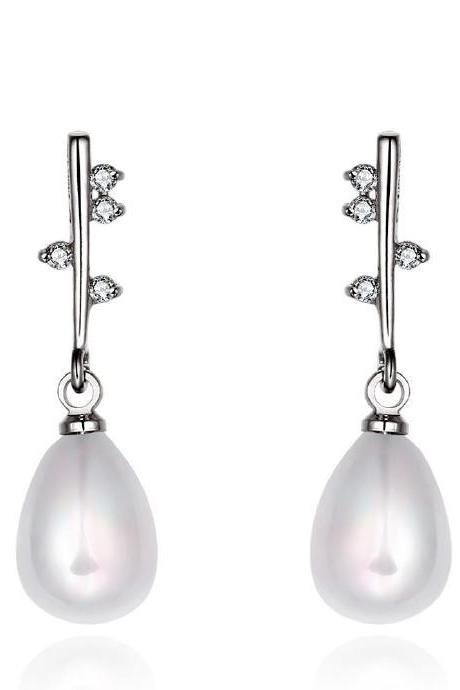 Jenny Jewelry E049 Brilliant Tiny Artificial Pearl Earring