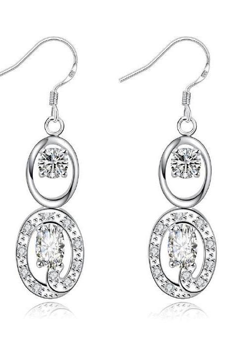 Jenny Jewelry E027-D New Fashion New Style Jewelry Silver Plated Earring
