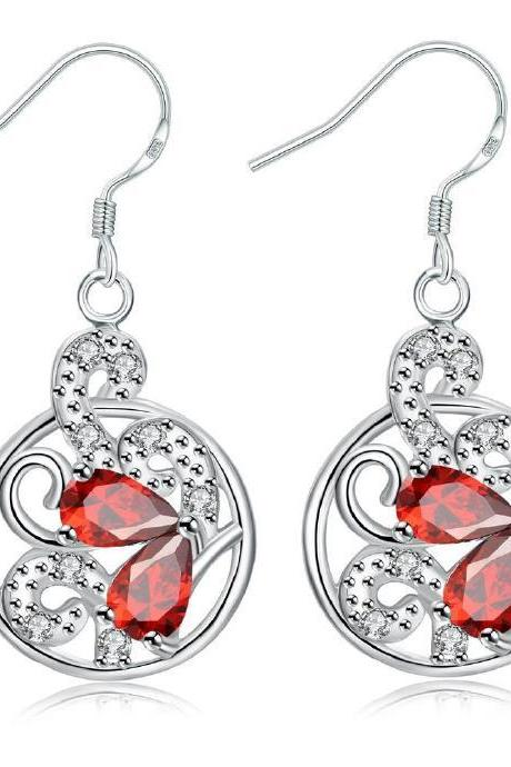 Jenny Jewelry E043-B New Fashion New Style Jewelry Silver Plated Earring