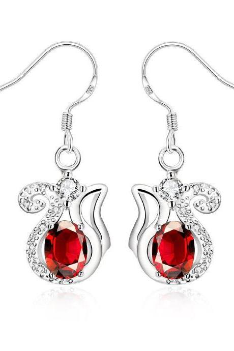 Jenny Jewelry E047-B New Fashion New Style Jewelry Silver Plated Earring