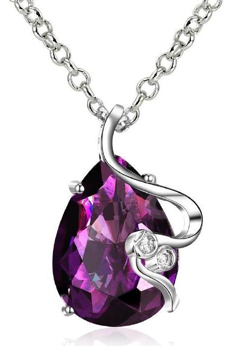 Jenny Jewelry FVRN021 Fashion High End Platinum Plating Ladies Necklace Crystal Pendant