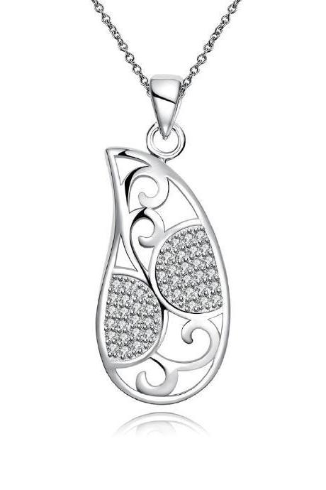 Jenny Jewelry N031 Silver plated necklace brand new design pendant necklaces jewelry for women