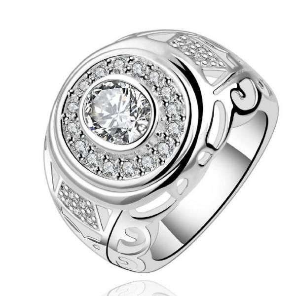 Jenny Jewelry R573 Silver Plated New Design Lady Ring
