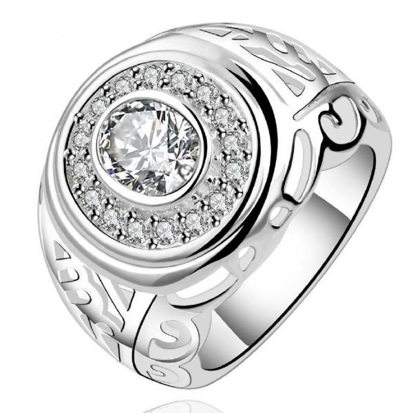 Jenny Jewelry R574 Silver Plated New Design Lady Ring
