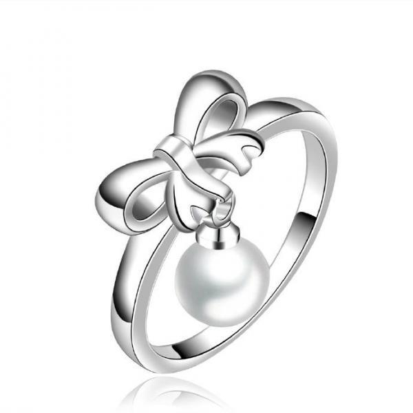 Jenny Jewelry R593 Silver Plated New Design Lady Ring