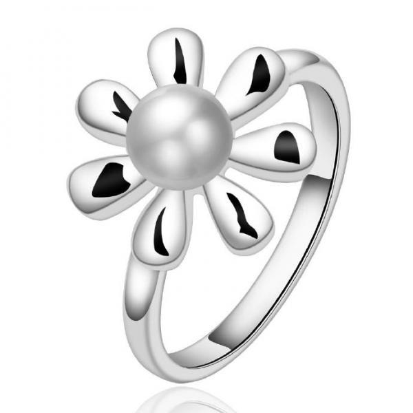 Jenny Jewelry R594 Silver Plated New Design Lady Ring