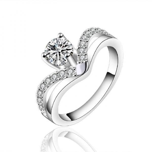 Jenny Jewelry R595 Silver Plated New Design Lady Ring