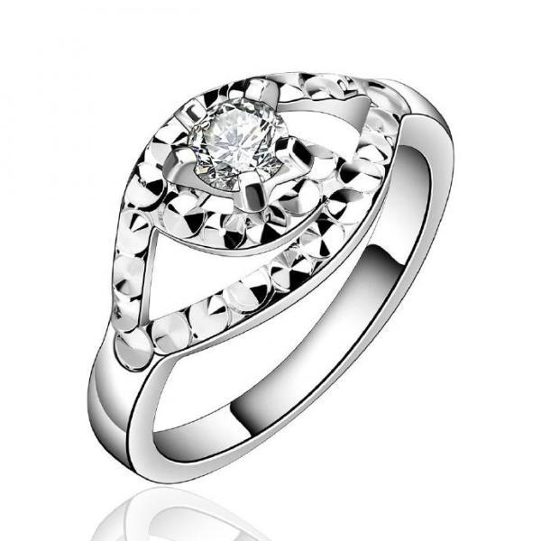 Jenny Jewelry R596 Silver Plated New Design Lady Ring