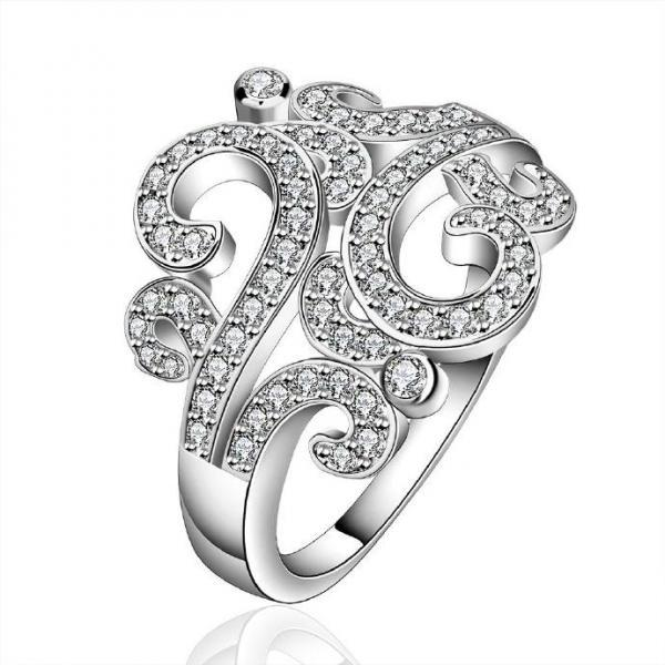 Jenny Jewelry R613 Silver Plated New Design Lady Ring