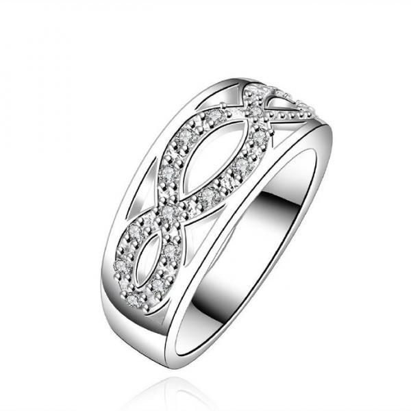 Jenny Jewelry R614 Silver Plated New Design Lady Ring