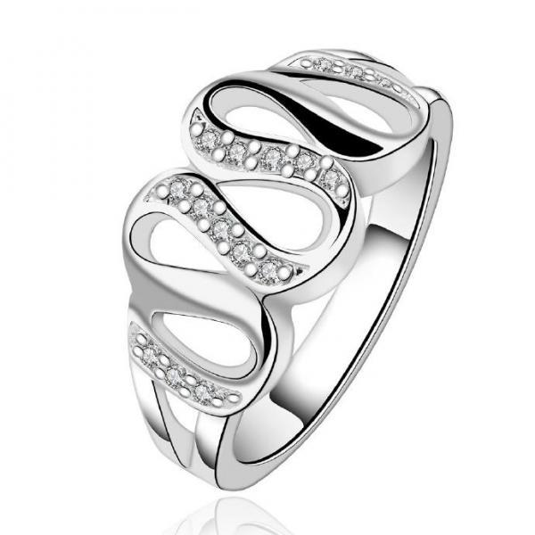 Jenny Jewelry R615 Silver Plated New Design Lady Ring