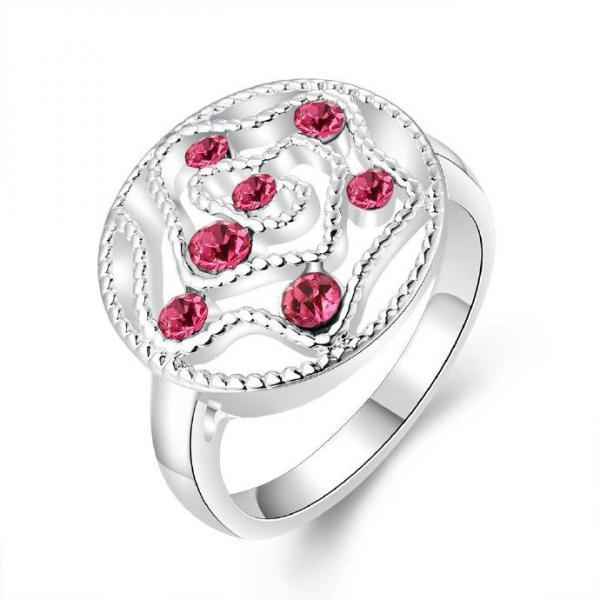 Jenny Jewelry R677 Silver Plated New Design Lady Ring