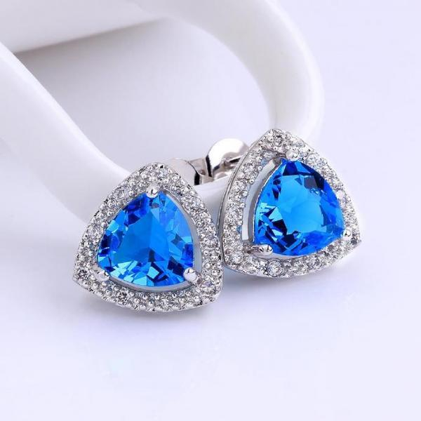 Jenny Jewelry FVRE006 Elegant Big Crystal Fashion Zircon Stud Earring