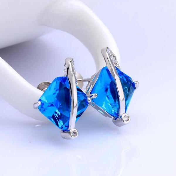 Jenny Jewelry FVRE005 Elegant Big Crystal Fashion Zircon Stud Earring