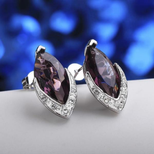 Jenny Jewelry FVRE007 Elegant Big Crystal Fashion Zircon Stud Earring