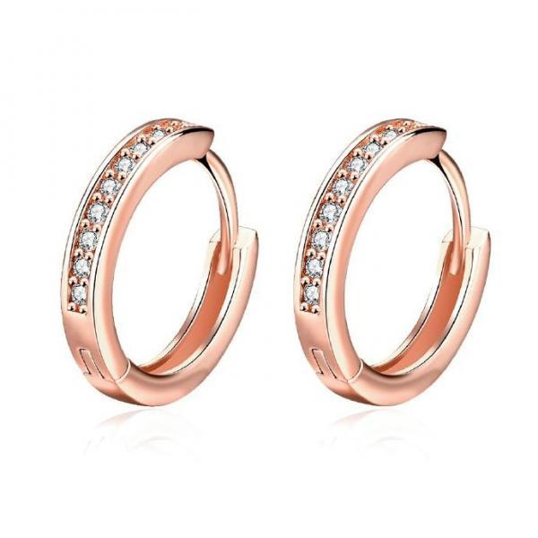 Jenny Jewelry E039-B 18K Gold Plating High Quality Ziccon Fashion Earring