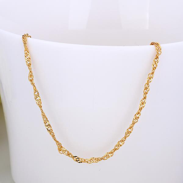 Jenny Jewelry C013 18K gold plated long chain