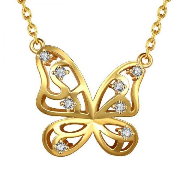 Jenny Jewelry N846-A 18K Real Gold Plated Necklace pendants New Fashion Jewelry