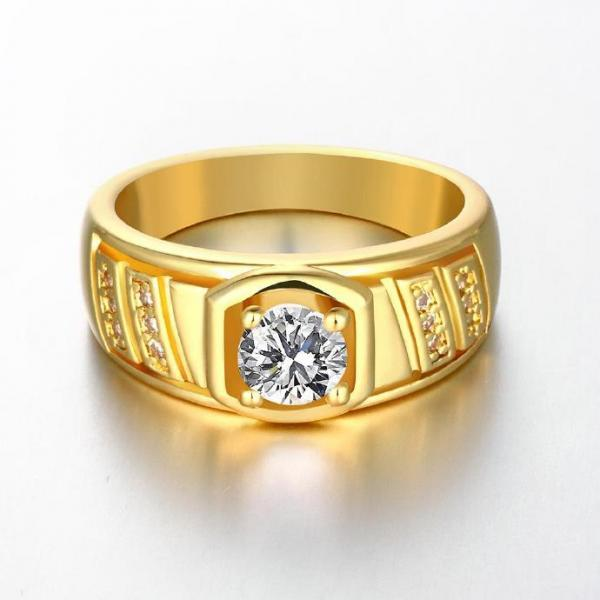 Jenny Jewelry R127-A-8 High Quality New Fashion Jewelry 24K Plated zircon Ring