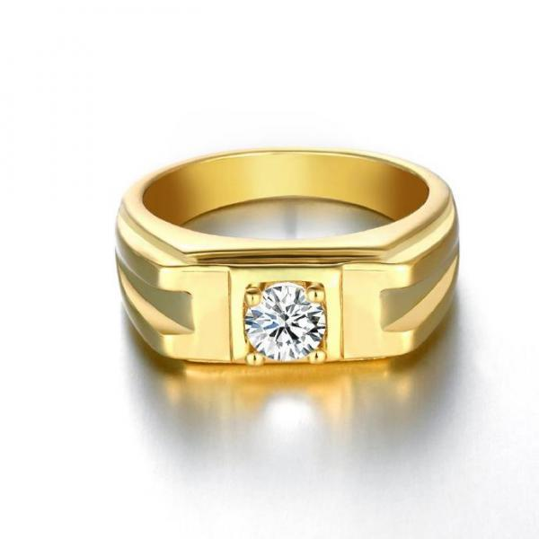 Jenny Jewelry R130-A-8 High Quality New Fashion Jewelry 24K Plated zircon Ring