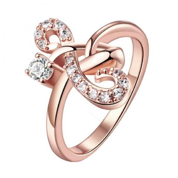 Jenny Jewelry R160-A-8 High Quality New Fashion Jewelry 18K Plated zircon Ring