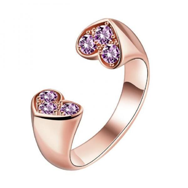 Jenny Jewelry R161-A-8 High Quality New Fashion Jewelry 18K Plated zircon Ring