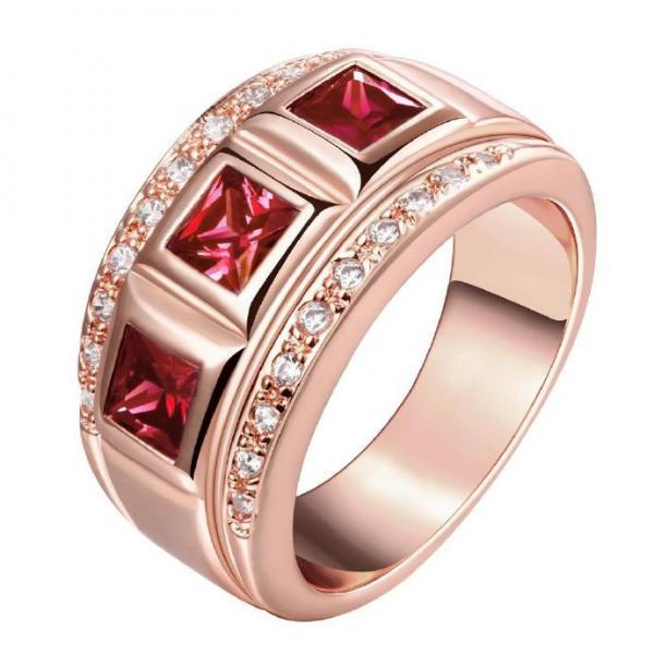 Jenny Jewelry R196-A-8 High Quality New Fashion Jewelry 18K Plated zircon Ring