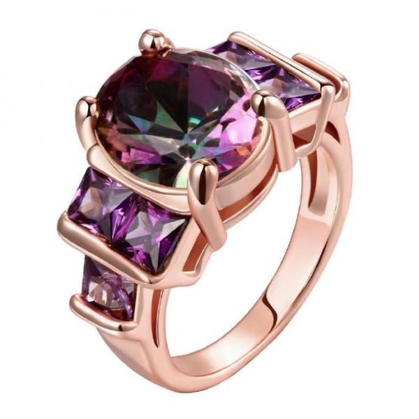 Jenny Jewelry R197-A-8 High Quality New Fashion Jewelry 18K Plated zircon Ring