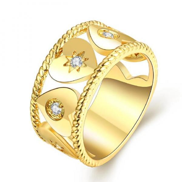 Jenny Jewelry R199-A-8 High Quality New Fashion Jewelry White Plated zircon Ring