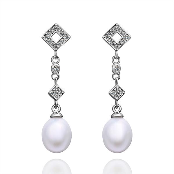 Jenny Jewelry E022 Brilliant Tiny Artificial Pearl Earring
