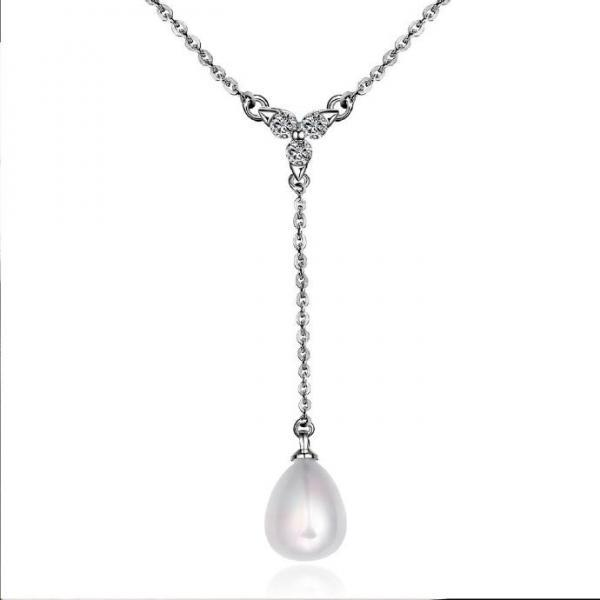 Jenny Jewelry N010 Mixed order brilliant tiny artificial pearl necklace